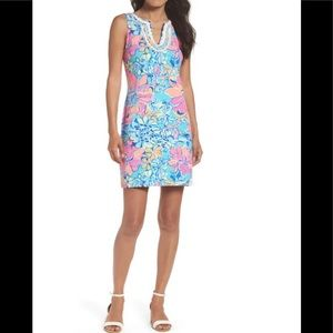 NWT Lilly Pulitzer Harper Shift Dress Aqua Breezy